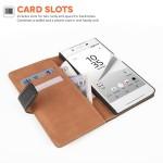 Δερμάτινη θήκη- πορτοφόλι για Sony Xperia Z5