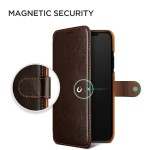 Verus Δερμάτινη Θήκη Πορτοφόλι iPhone Xs Max - Brown