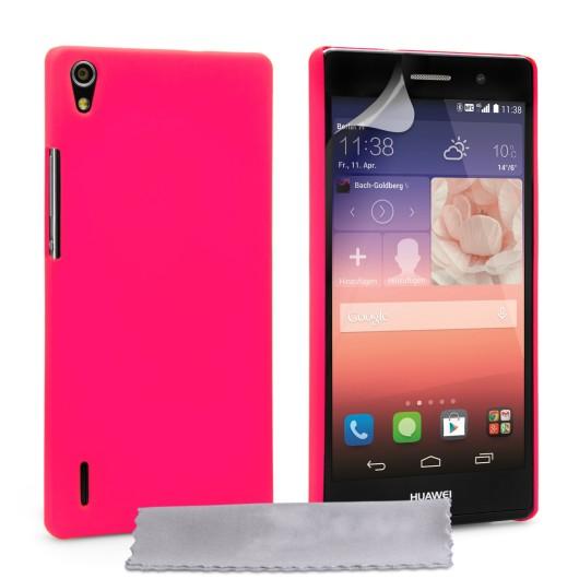 Θήκη για Huwaei Ascend P7 ροζ ultra slim
