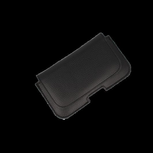 OEM Universal Δερμάτινη Θήκη κινητού με clip ζώνης για κινητά με οθόνη έως 6.5 inches - Black ( 200-104-611)