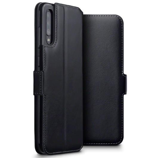 Terrapin Low Profile Δερμάτινη Θήκη - Πορτοφόλι Samsung Galaxy A70 - Black (117-002a-151)