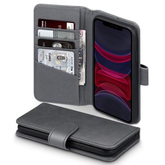 Terrapin Δερμάτινη Θήκη - Πορτοφόλι iPhone 11 Pro - Grey (117-129-004)