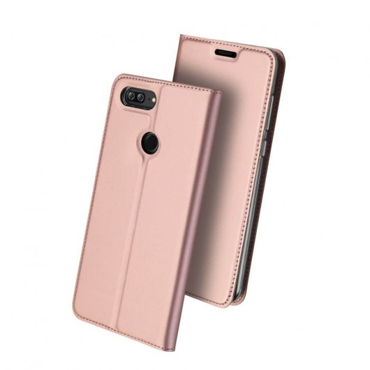 Duxducis SkinPro Flip Θήκη Huawei Honor 9 Lite - Rose Gold