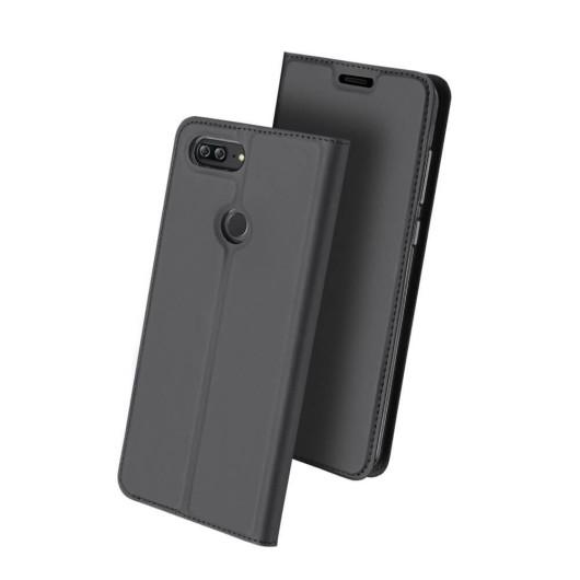 Duxducis SkinPro Flip Θήκη Huawei Honor 9 Lite - Gray (13535)