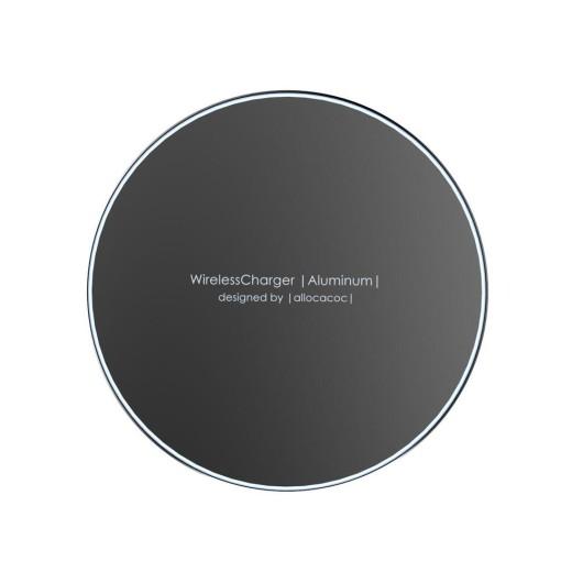 Allocacoc Wireless Charging Pad (Qi) Μαύρο (Aluminium 10W) - (200-104-438)