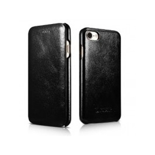 iCarer Vintage Curved Edge Δερμάτινη Θήκη iPhone 8 / 7 - Black (RIP 701)