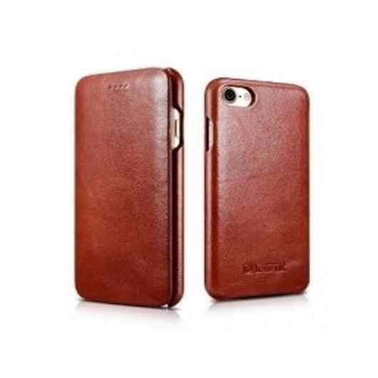 iCarer Vintage Curved Edge Δερμάτινη Θήκη iPhone 8 / 7 - Brown (RIP 701)