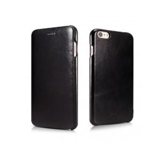 iCarer Vintage Curved Edge Δερμάτινη Θήκη iPhone 6/6S - Black (RIP 622)