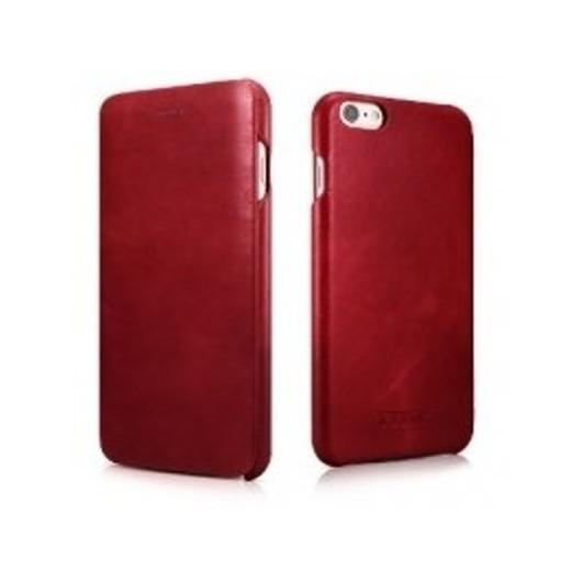 iCarer Vintage Curved Edge Δερμάτινη Θήκη iPhone 6/6S - Red (RIP 622)