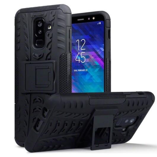 Terrapin Ανθεκτική Θήκη Samsung Galaxy A6 Plus 2018 - Black (131-002-079)