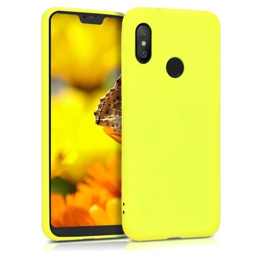 Θήκη σιλικόνης για Xiaomi Mi A2 Lite / Redmi 6 Pro - Lemon Yellow by KW (200-104-953)