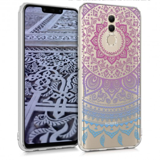 da759f9644 Ημιδιάφανη Θήκη σιλικόνης Indian Sun Blue Dark Pink για Huawei Mate 20 Lite