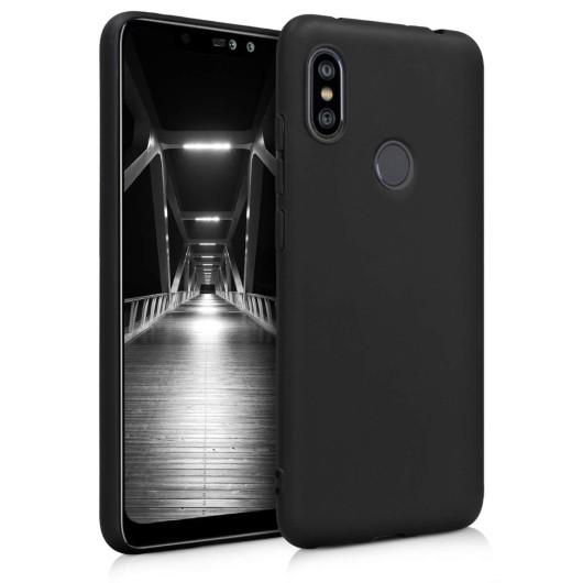 Θήκη σιλικόνης μαύρη για Xiaomi Redmi Note 6 Pro by KW