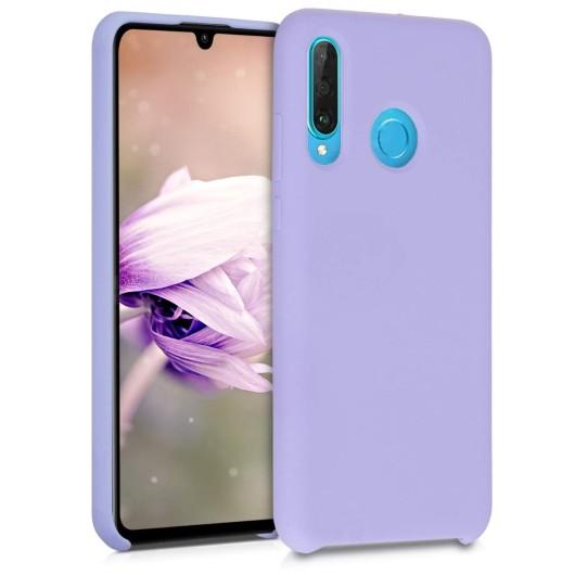 Θήκη Σιλικόνης για Huawei P30 Lite - Light Purple Matte by KW (200-104-442)