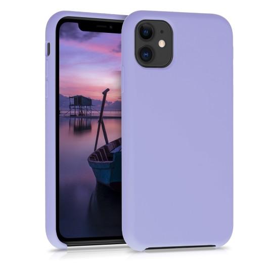 Θήκη Σιλικόνης για iPhone 11 - Light Purple Matte by KW (200-104-879)