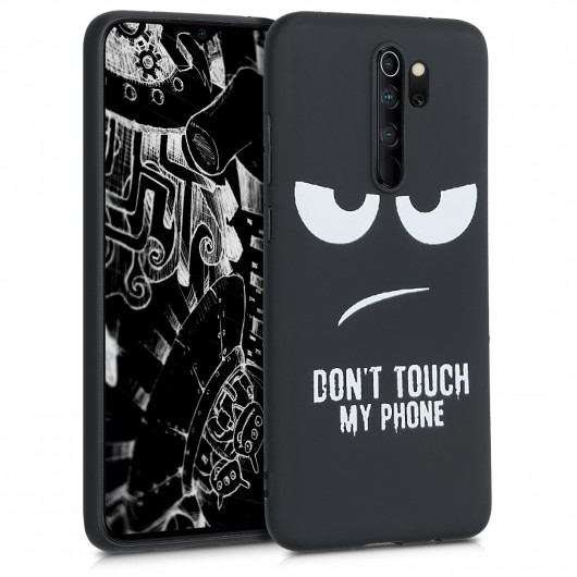 Θήκη Σιλικόνης για Xiaomi Redmi Note 8 Pro - Don't Touch My Phone White / Black by KW (200-104-726)