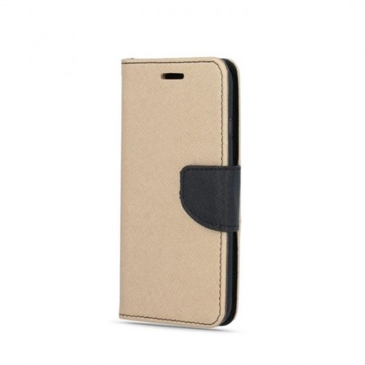 Fancy Θήκη - Πορτοφόλι για iPhone XR Χρυσό-Μαύρο (200-108-002)