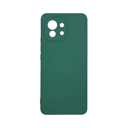 Θήκη σιλικόνης My Colors για Xiaomi Mi 11 Σκούρο Πράσινο (200-108-251)