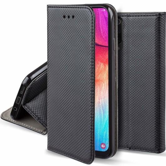 Θήκη Flip με Πορτάκι Smart Magnet για Xiaomi Redmi Note 8 - Μαύρο (200-104-616)
