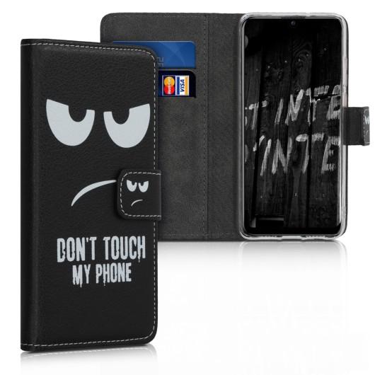 KW Θήκη Πορτοφόλι Huawei P Smart (2019) - White / Black (200-104-278)
