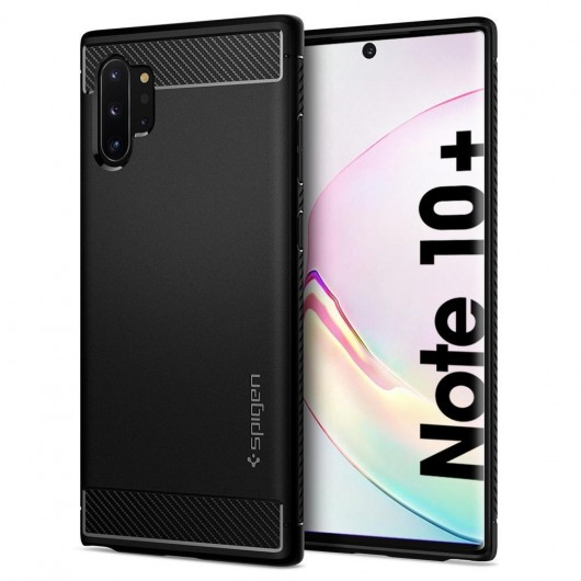 Spigen Galaxy Note 10+ Rugged Armor Black (627CS27331)
