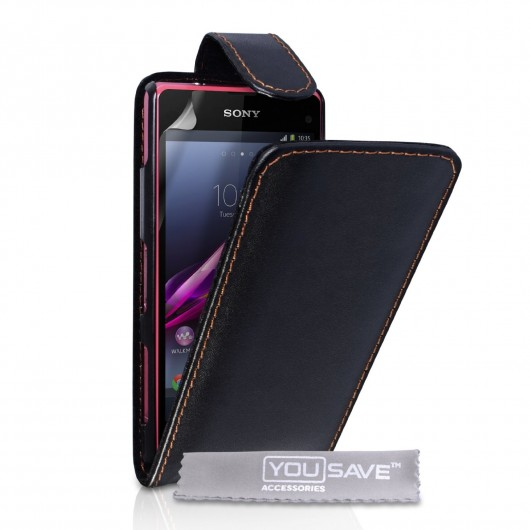 Sony Xperia Z1 Compact by YouSave δερμάτινη