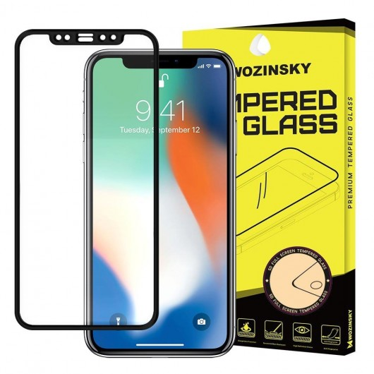 Wozinsky Full Cover 5D Tempered Glass Black για iPhone X/Xs