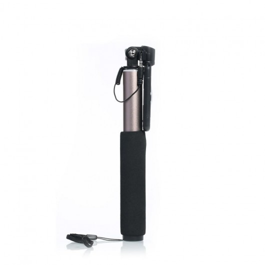 Remax P5 3.5mm audio wire control και Go Pro Mount selfie stick χρυσό