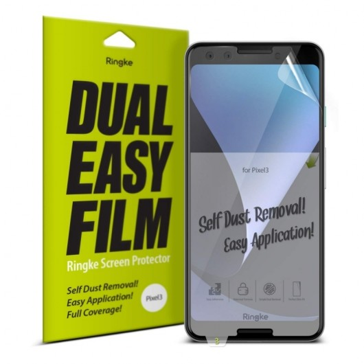 Ringke Easy Full Cover Case Friendly Screen Protector για Google Pixel 3 - 2 τεμάχια