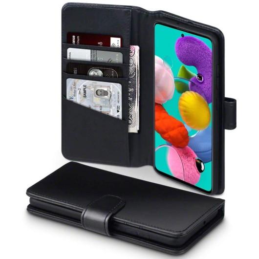 Terrapin Δερμάτινη Θήκη - Πορτοφόλι Samsung Galaxy A51 - Black (117-002a-202)