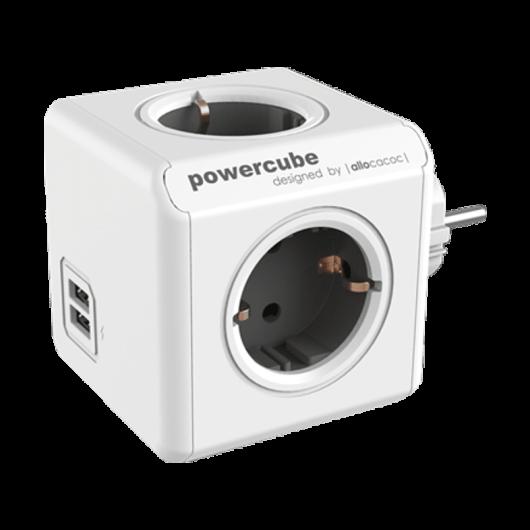 Allocacoc PowerCube Original USB - Πολύμπριζο - Γκρι