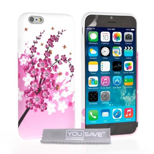 Θήκη σιλικόνης για iPhone 6 plus floral by YouSave Accessories