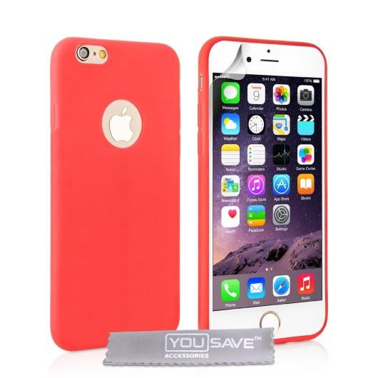 Θήκη σιλικόνης για iPhone 6 Plus /6S Plus κόκκινη slim