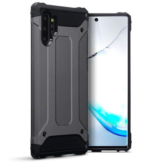 Terrapin Ανθεκτική Θήκη Double Layer Impact Samsung Galaxy Note 10 Plus - Gunmetal (131-002-197)