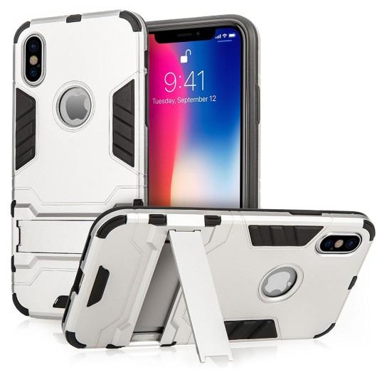 Centopi θήκη Armour Combo Stand για iPhone X - Silver