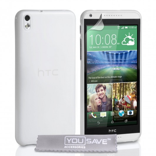 Θήκη σιλικόνης για HTC Desire 816 ημιδιάφανη