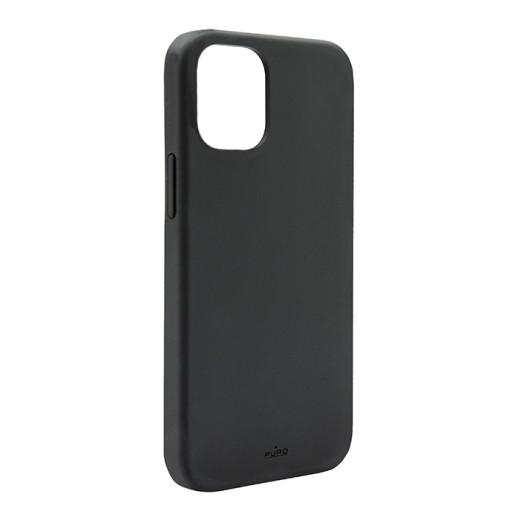 PURO Cover Silicon with microfiber inside για iPhone 13 Pro Max - Μαύρο