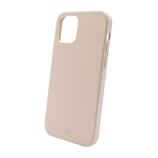 PURO Cover Silicon with microfiber inside για iPhone 13 Pro Max - Ροζ