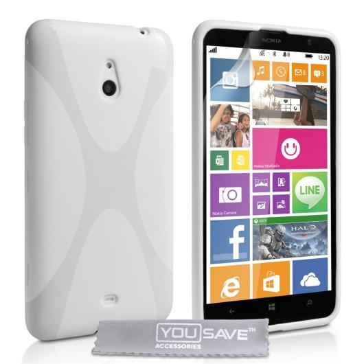Θήκη σιλικόνης για Nokia Lumia 1320 λευκή