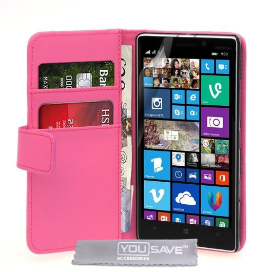 Θήκη- Πορτοφόλι για Nokia Lumia 930 by YouSave Accessories ροζ