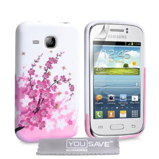 Θήκη σιλικόνης για Samsung Galaxy Young floral