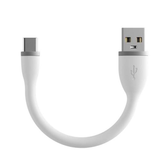 Satechi Flexible - Καλώδιο Φόρτισης και Μεταφοράς Δεδομένων 2.4A - USB-A σε Type-C - 15cm - White (ST-FCC6W)
