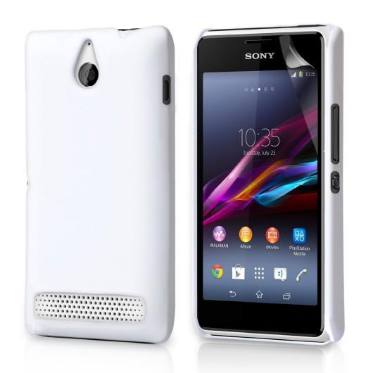 Θήκη για Sony Xperia E1 by YouSave Hybrid λευκή
