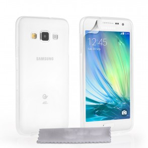 Θήκη σιλικόνης για Samsung Galaxy A3  ημιδιάφανη by YouSave Accessories και  screen protector