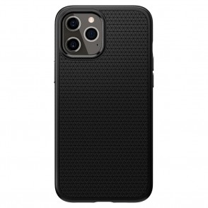 Spigen Θήκη Liquid Air iPhone 12 Pro Max - Black (ACS01617)