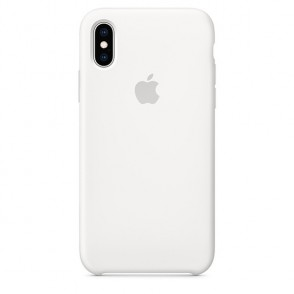 Apple Official Silicon Cover - Θήκη Σιλικόνης iPhone XS - White (MRW82ZM/A)