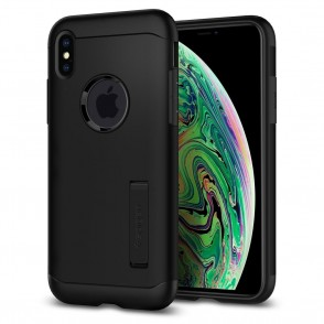 Spigen iPhone Xs Max Slim Armor Black (065CS25156)