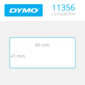 DYMO Name Badge Labels 41mm x 89mm 300 τεμ (11356)