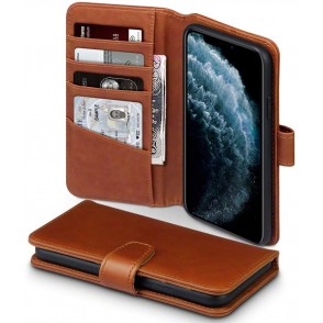 Terrapin Δερμάτινη Θήκη - Πορτοφόλι iPhone 11 Pro Max - Brown (117-131-003)