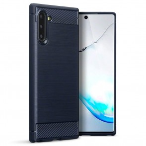 Terrapin Θήκη Σιλικόνης Carbon Fibre Samsung Galaxy Note 10 - Blue (118-002-785)
